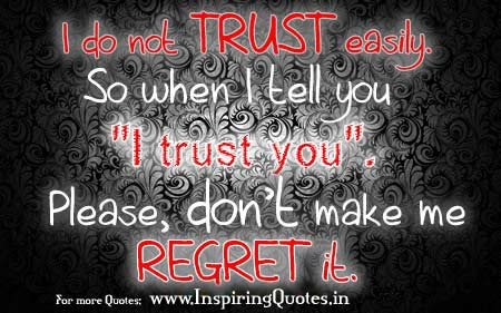 English Thought for the day on trust Images Wallpapers, Pictures