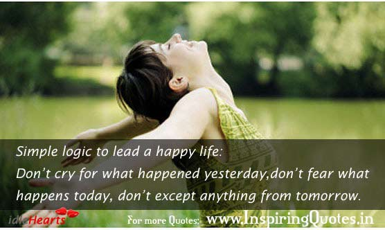 Simple Logic To Lead A Happy Life