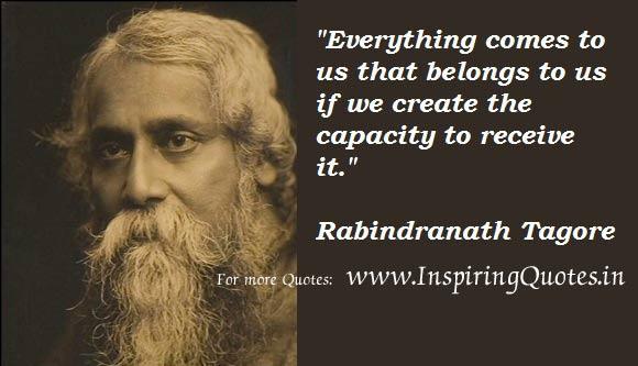 Rabindranath Tagore Success Quotes and Sayings