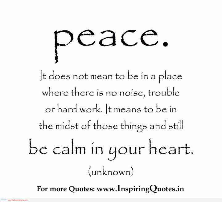 Thoughts on Peace, Quotes, Sayings Images Wallpapers Photos Picture on Peace