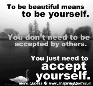 You Just Need to Accept yourself Quotes Images Wallpapers Pictures