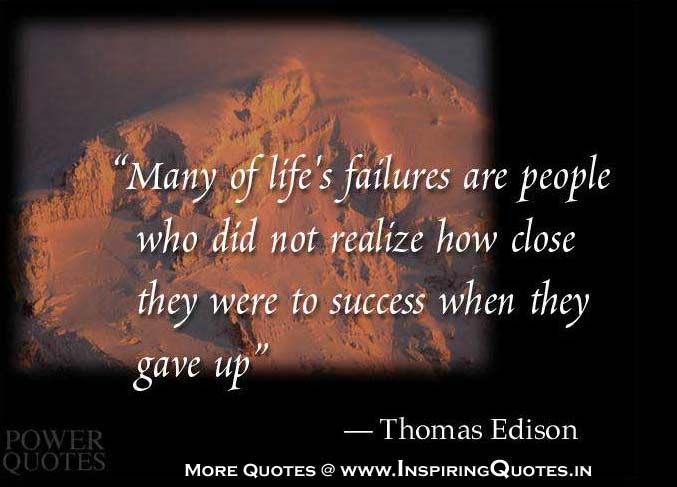 Thomas Edison Quotes Famous Thoughts of Thomas Edison, Sayings Pictures, English Messages, Wise, Failure, Success Quotations Images