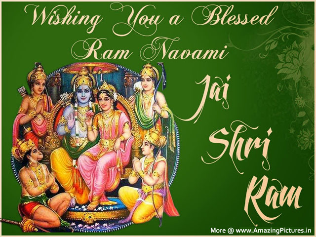 Wishes You Happy Ram Navami & Your Family, Lord Ram Bless You Inspiring Quotes Images, Wallpapers, Pictures, Photos