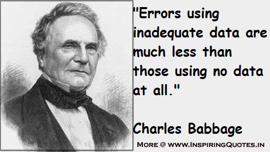 Charles Babbage Science Quotes